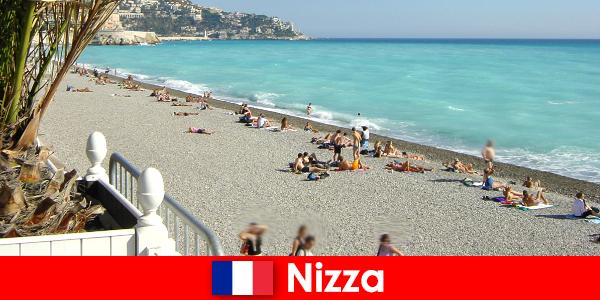 Nizza wunderschöne Strände der französischen Riviera