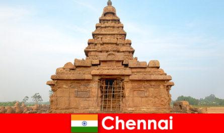 Chennai Ausländer lieben die Schönheiten der Tempel die zum UNESCO-Weltkulturerbe gehören