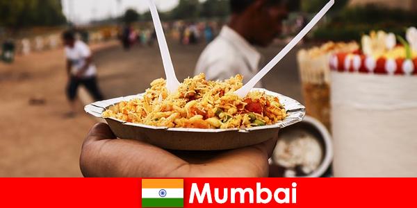 Mumbai für Touristen bekanntes Ort für seine Straßenverkäufer und Essensarten