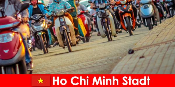 Ho Chi Minh Stadt für Radler und Sportfreunde Touristen immer ein Vergnügen