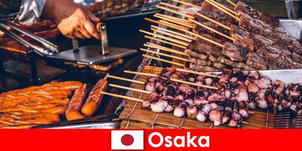 ओसाका जापान के भोजन और एक छुट्टी साहसिक की तलाश में किसी के लिए संपर्क का एक बिंदु है