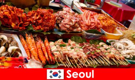 Seoul auch berühmt unter Einreisende für sein leckeres und kreatives Strassenessen
