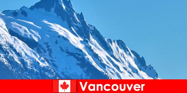 Die Stadt Vancouver in Kanada ist das Hauptziel des Bergsteiger Tourismus