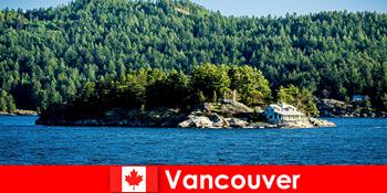 Für Auslandstouristen eine Erholung und eintauchen in die schöne Naturlandschaft von Vancouver in Kanada