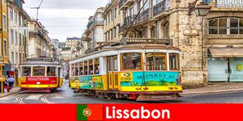 Historische Straßen von Lissabon Portugal mit einem Touch von Nostalgie für Kulturreisende