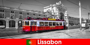 Lissabon in Portugal Touristen kennen Sie als die weiße Stadt am Atlantik