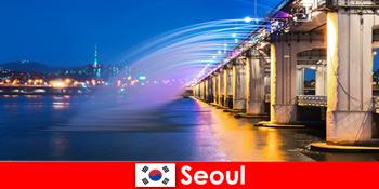 Seoul in Korea ist eine Lichterstadt die Ausländer anlockt