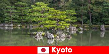 Japanische Gärten laden fremde Gäste für erholsame Spaziergänge in Kyoto ein