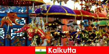 Bunte religiöse Zeremonien auf Kalkutta Indien ein Reisetipp für Fremde