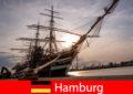 Deutschland Absteigen im Hamburger Hafen zum Fischmarkt für Reisegourmets