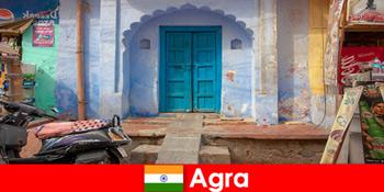 Auslandsreise nach Agra Indien im ländlichen Dorfleben