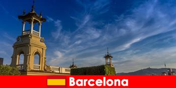 Archäologische Stätten in Barcelona Spanien erwarten begeisterte Geschichtstouristen